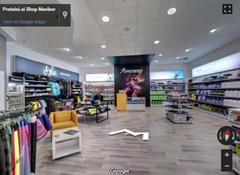 Slovenia Virtual Tours – Proteini shop Maribor