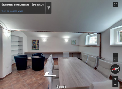 Slovenia Virtual Tours – Študentski dom Ljubljana – Dom IV
