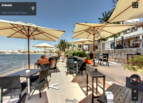 Ibiza Virtual Tours –  Restaurant Soleado Coctails-Lounge