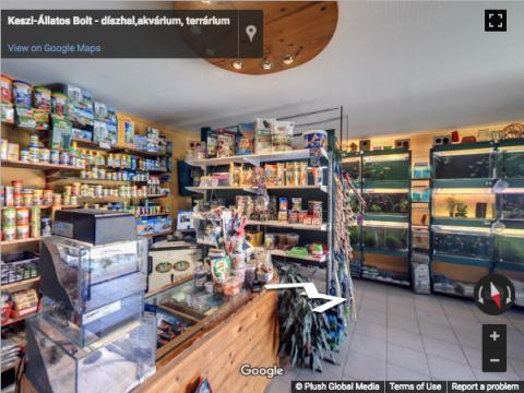 Budapest Virtual Tours – Keszi-Állatos Bolt – díszhal,akvárium, terrárium