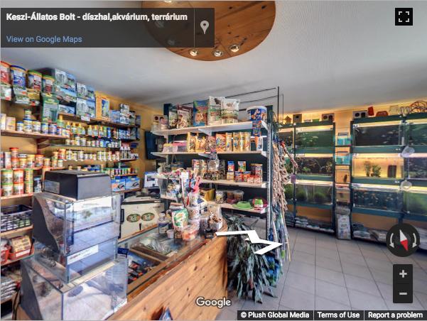 Budapest Virtual Tours - Keszi-Állatos Bolt - díszhal,akvárium, terrárium