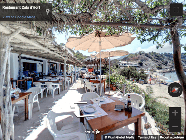 Ibiza Virtual Tours - Restaurante Cala d'Hort