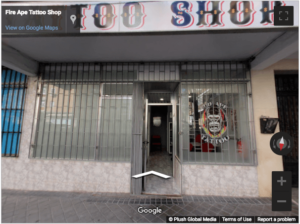 Madrid Virtual Tours - Fire Ape Tattoo