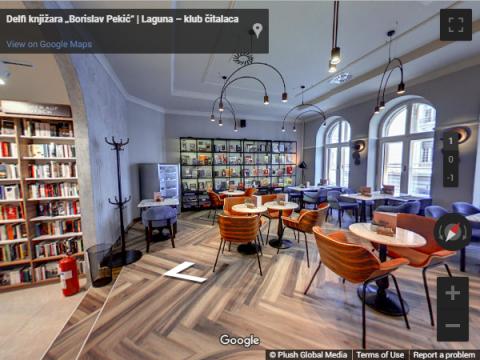 Serbia Virtual Tours – Delfi knjižara Knez Mihajlova